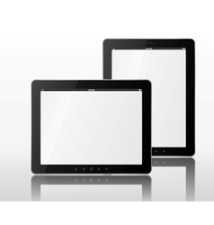 two tablet computers vector image