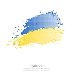 ukraine flag with halftone effect vector image