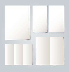 White folded paper set collections vector image