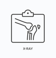 X-ray flat line icon outline vector