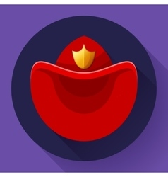 Firefighters hat symbol icon for video vector image