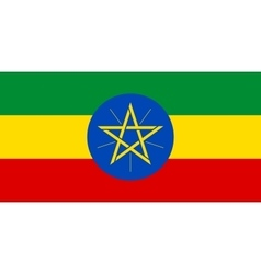Flag of ethiopia in correct proportions and colors vector