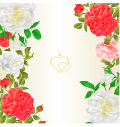 floral border vertical background with blooming vector image