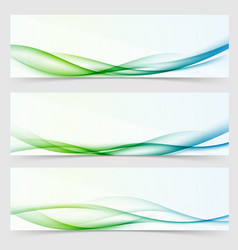 fresh futuristic modern fashion line wave cards vector image vector image