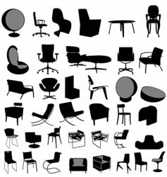 chairs collection vector image vector image