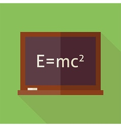 Flat Science and Education Blackboard with long vector image vector image