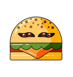 monster burger vector image
