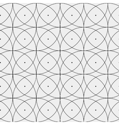 Pattern abstract seamless monochrome curves vector image vector image