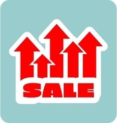 Sale grow up sticker vector image vector image