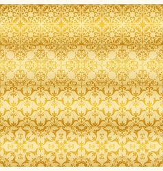 seamless golden floral paterns vector image vector image