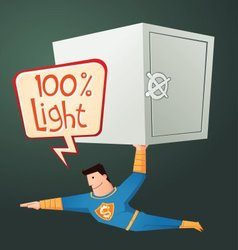 superhero carry a deposit box vector image vector image