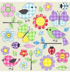 textile stickers vector image vector image