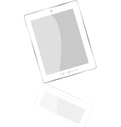white abstract tablet pc vector image vector image