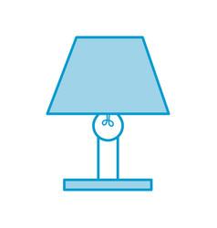 lamp bulb light furniture electric decoration vector image