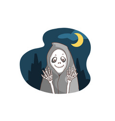 Smiley ghost bone in the dark vector