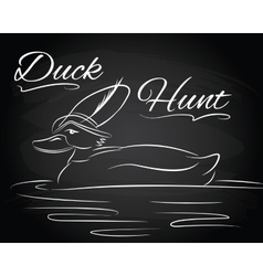 with duck in the hunter hat vector image vector image