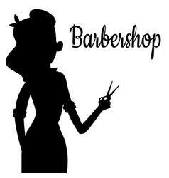 black girl silhouette of hairdresser vector image vector image