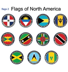 Flags of North America vector image vector image