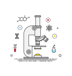microscope lines design science elements vector image vector image