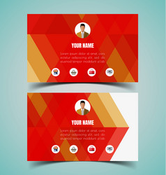 name card template vector image vector image