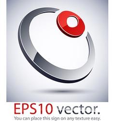 3D modern ring logo icon vector