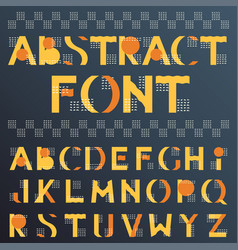 abstract colorful geometric font in memphis style vector image