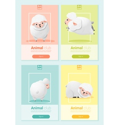 Animal banner with sheep for web design 2 vector