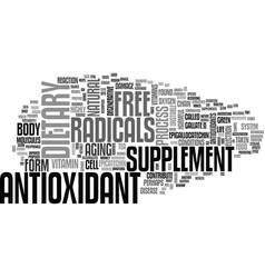 Antioxidant berry text word cloud concept vector