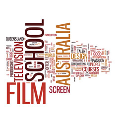 Australia film school text background word cloud vector