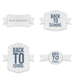 Back to School Banners with paper Ribbons Set vector image
