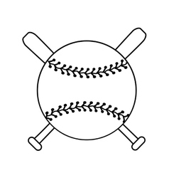 baseball and bats graphic vector image