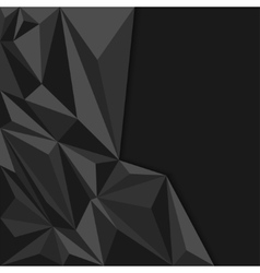 Black abstract geometric background polygon vector image