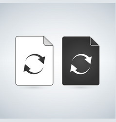 black and white coding html file icon isolated on vector image