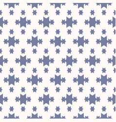 blue and white geometric seamless pattern vector image