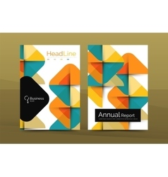 Business annual report cover design template vector