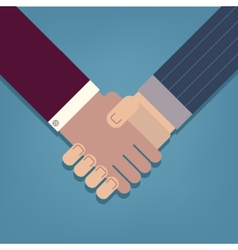 Businessman handshake icon vector