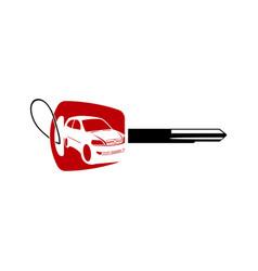 Car logo design with key auto logo silhouette vector