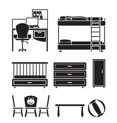 children furniture vector image vector image