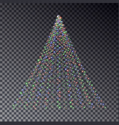 christmas light tree string light effect christm vector image