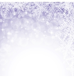 Christmas snowflakes on violet background vector image