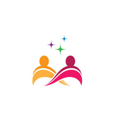 Community care symbol design vector