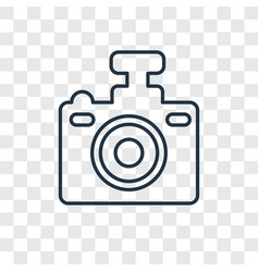 Compact camera concept linear icon isolated on vector
