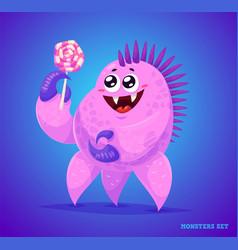 cute monster set for halloween vector image