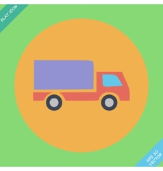 Delivery truck - icon vector image