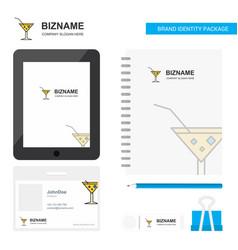 Drink business logo tab app diary pvc employee vector