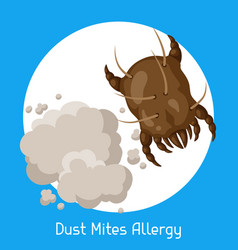 Dust mites allergy vector