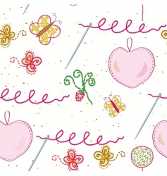 embroidery vector image
