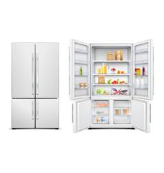 Family fridge realistic set vector
