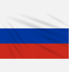 flag russia swaying in wind realistic vector image