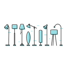 floor lamp set vector image